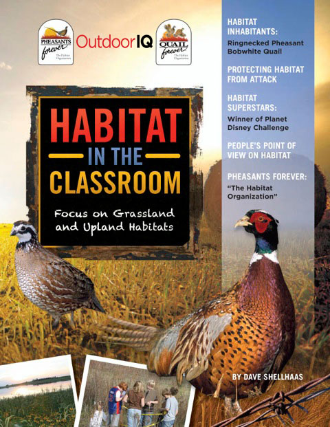Outdoor Kids Club curriculum: Habitat in the Classroom - Focus on Grassland and Upland Habitats - cover art