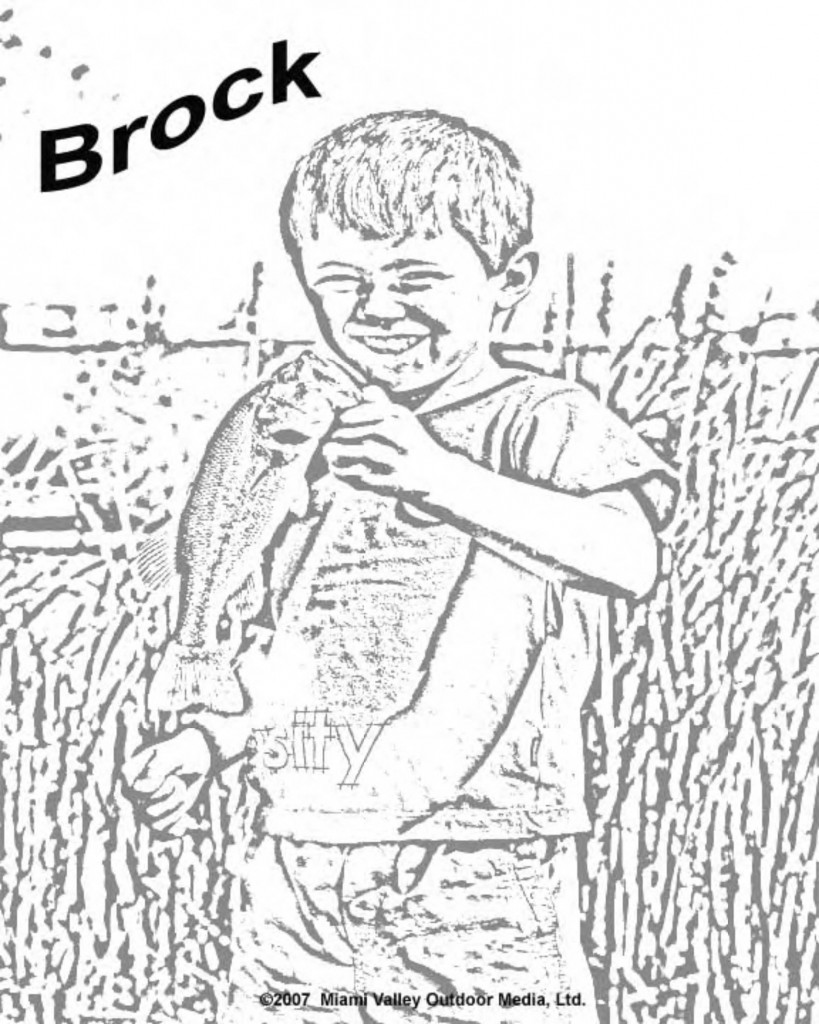 coloring page: Brock - bass