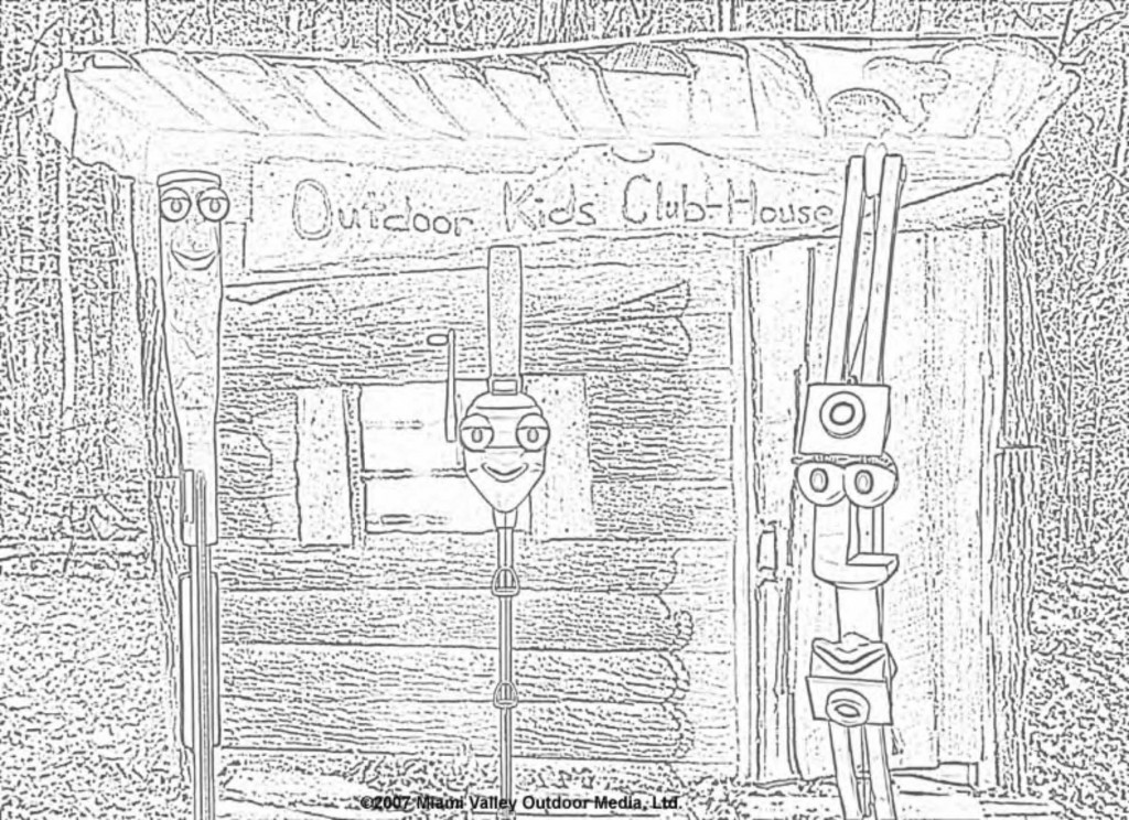 coloring page: Outdoor Kids Clubhouse characters