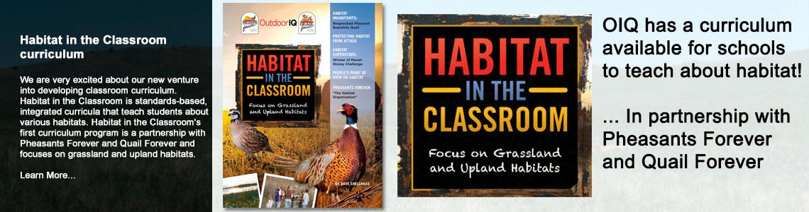 OutdoorIQ.org book: Habitat in the Classroom curriculum
